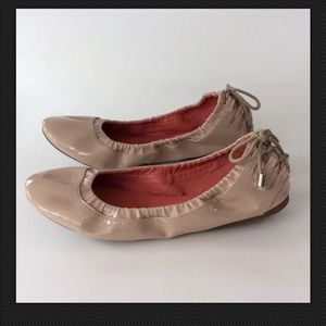 WANTED Classic PANAMA Ballet Flats Tie Heel Taupe
